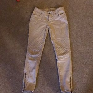 tan lucky brand ankle jeans